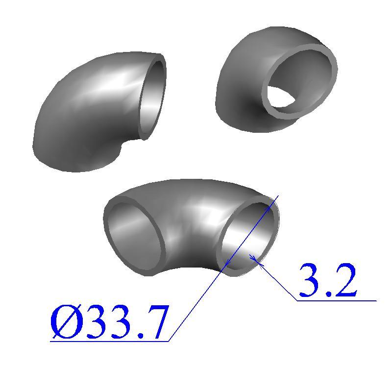 Отводы стальные 33,7х3,2 оцинкованные