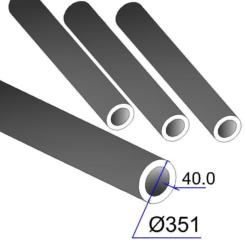 Труба бесшовная 351х40 сталь 20