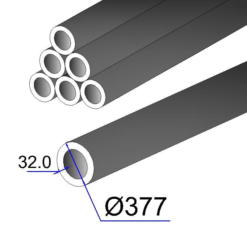 Труба бесшовная 377х32 сталь 20
