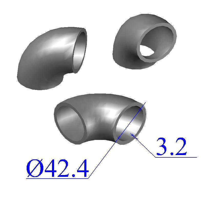 Отводы стальные 42,4х3,2 оцинкованные