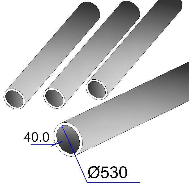 Труба бесшовная 530х40 сталь 20