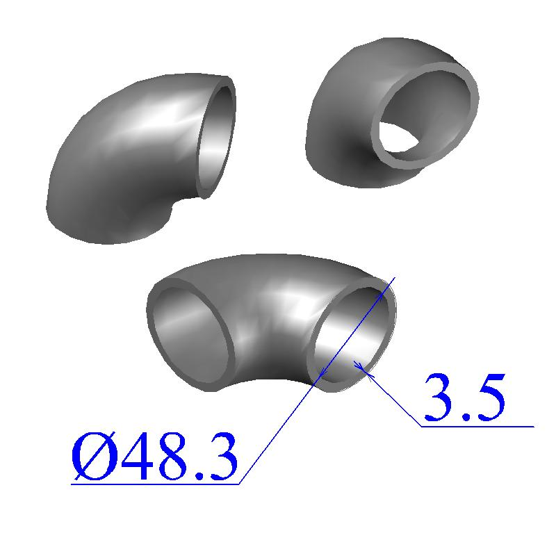 Отводы стальные 48,3х3,5 оцинкованные