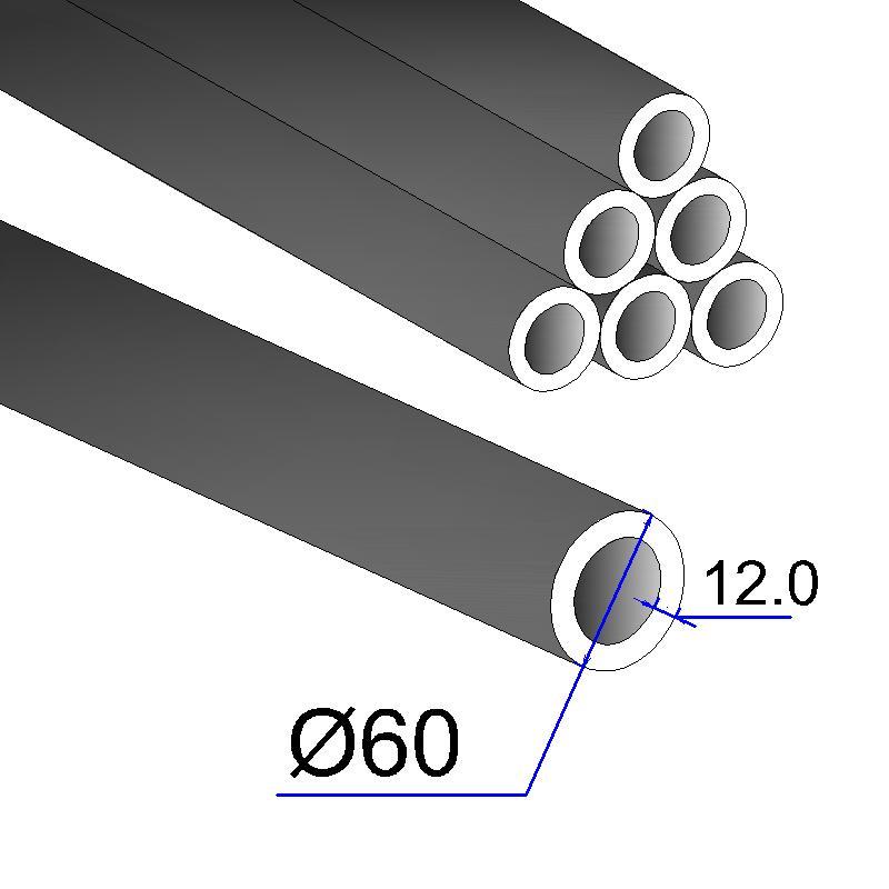Труба бесшовная 60х12 сталь 35