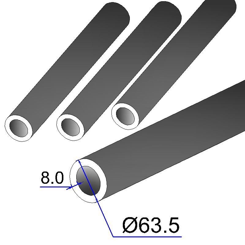 Труба бесшовная 63,5х8 сталь 45