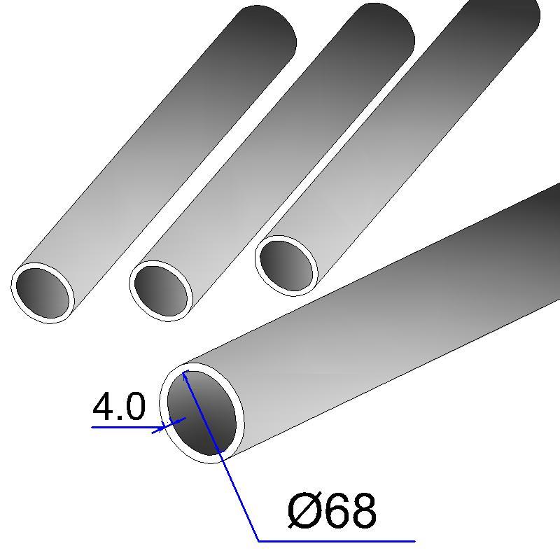 Труба бесшовная 68х4 сталь 20