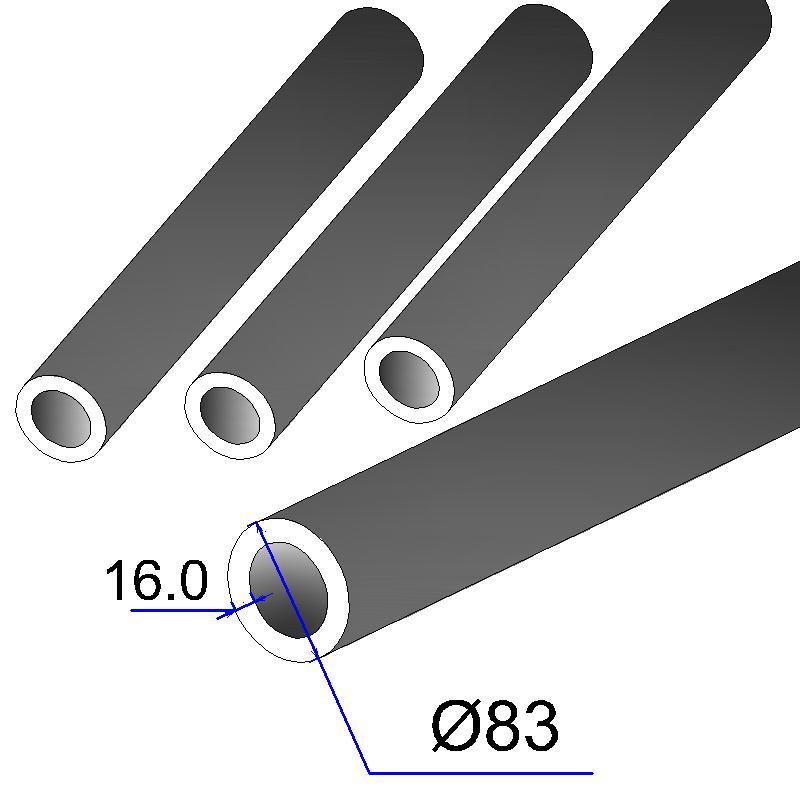 Труба бесшовная 83х16 сталь 45