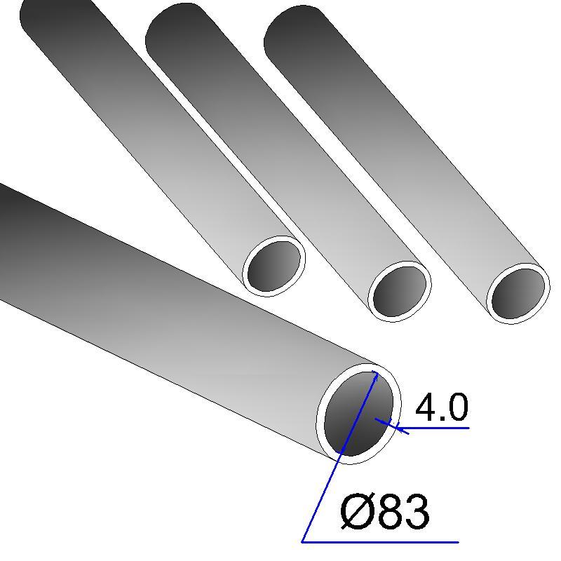 Труба бесшовная 83х4 сталь 20