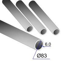 Труба бесшовная 83х6 сталь 20