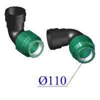 Отвод ПНД компрессионный D 110х4