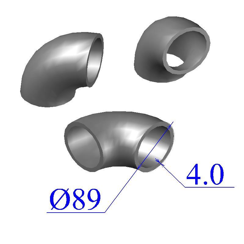 Отводы стальные 89х4 оцинкованные