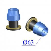 Фланец ПНД компрессионный D 63х2