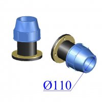 Фланец ПНД компрессионный D 110х4