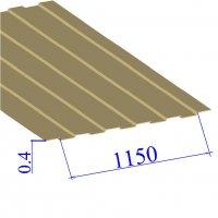 Профнастил окрашенный RAL 1014 С8 0.4х1150