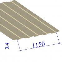 Профнастил окрашенный RAL 1015 С8 0.4х1150