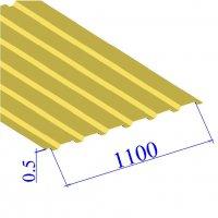 Профнастил окрашенный RAL 1018 С20 0.5х1100