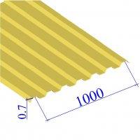 Профнастил окрашенный RAL 1018 С21 0.7х1000