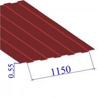 Профнастил окрашенный RAL 3011 С8 0.55х1150