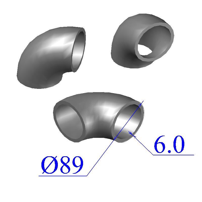 Отводы стальные 89х6 оцинкованные