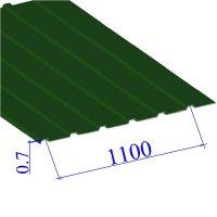 Профнастил окрашенный RAL 6002 С10 0.7х1100