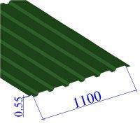 Профнастил окрашенный RAL 6002 С20 0.55х1100