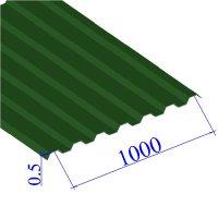 Профнастил окрашенный RAL 6002 С21 0.5х1000