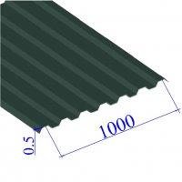 Профнастил окрашенный RAL 6005 С21 0.5х1000
