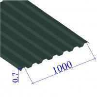 Профнастил окрашенный RAL 6005 С21 0.7х1000