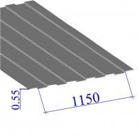 Профнастил окрашенный RAL 7004 С8 0.55х1150
