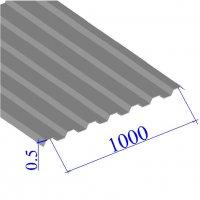 Профнастил окрашенный RAL 7004 С21 0.5х1000