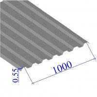 Профнастил окрашенный RAL 7004 С21 0.55х1000