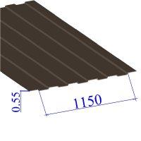 Профнастил окрашенный RAL 8017 С8 0.55х1150