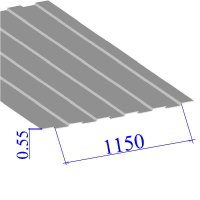 Профнастил окрашенный RAL 9002 С8 0.55х1150