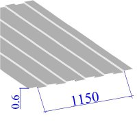 Профнастил окрашенный RAL 9003 С8 0.6х1150