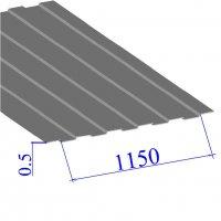 Профнастил окрашенный RAL 9006 С8 0.5х1150