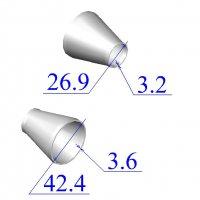 Переходы стальные 42,4х3,6-26,9х3,2 концентрические оцинкованные
