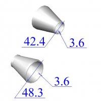 Переходы стальные 48,3х3,6-42,4х3,6 концентрические оцинкованные