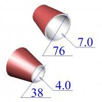 Переходы стальные 76х7-38х4 эксцентрические