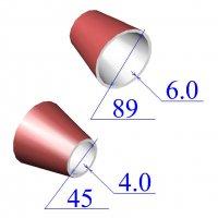 Переходы стальные 89х6-45х4 эксцентрические