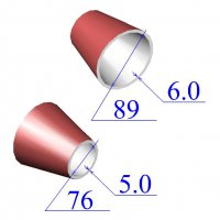 Переходы стальные 89х6-76х5 эксцентрические