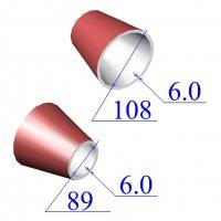 Переходы стальные 108х6-89х6 эксцентрические