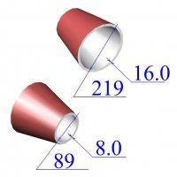 Переходы стальные 219х16-89х8 эксцентрические