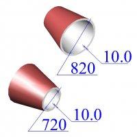 Переходы 820х10-720х10 эксцентрические ст.09Г2С