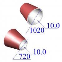 Переходы 1020х10-720х10 эксцентрические ст.09Г2С