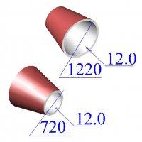 Переходы 1220х12-720х12 эксцентрические ст.09Г2С