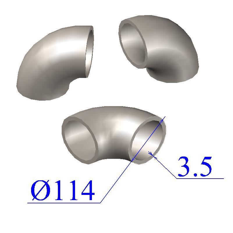 Отводы стальные 114х3,5 оцинкованные