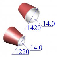 Переходы 1420х14-1220х14 эксцентрические ст.09Г2С
