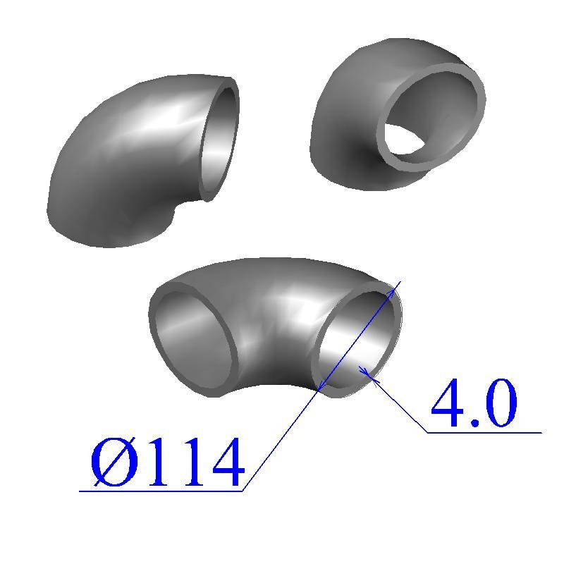 Отводы стальные 114х4 оцинкованные