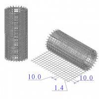Сетка оцинкованная в рулонах 10х10х1,4