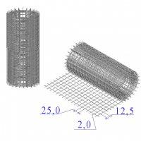 Сетка оцинкованная в рулонах 25х12,5х2
