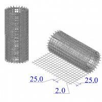 Сетка оцинкованная в рулонах 25х25х2